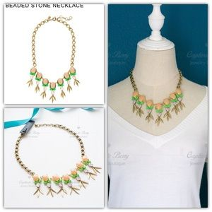 J.CREW Beaded Stone Statement Necklace